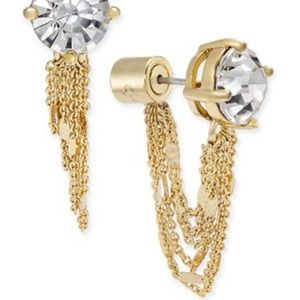 kate spade Crystal Stud and Chain Earring Jackets